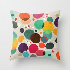 Lotus in koi pond Throw Pillow