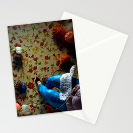 The knitter. Stationery Cards