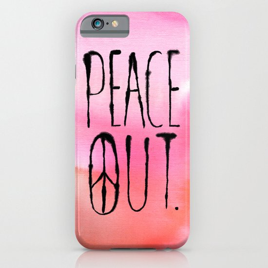 Peace Out. iPhone & iPod Case