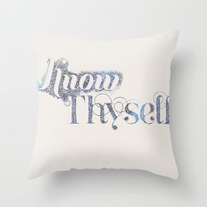Know Thyself - Linen Edition Throw Pillow