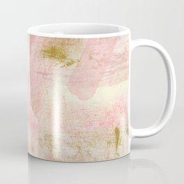 Rustic Gold and Pink Abstract Coffee Mug