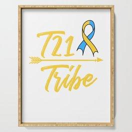 T21 Tribe Down Syndrome Awareness Kids Day Ribbon Serving Tray