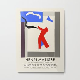 Henri Matisse. Exhibition poster for Museum of Decorative Arts at the Louvre, Paris. 1961 Metal Print