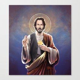 Saint Keanu of Reeves Canvas Print