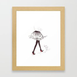 Watercolour Fashion Illustration Titled Strolling through Paris Framed Art Print