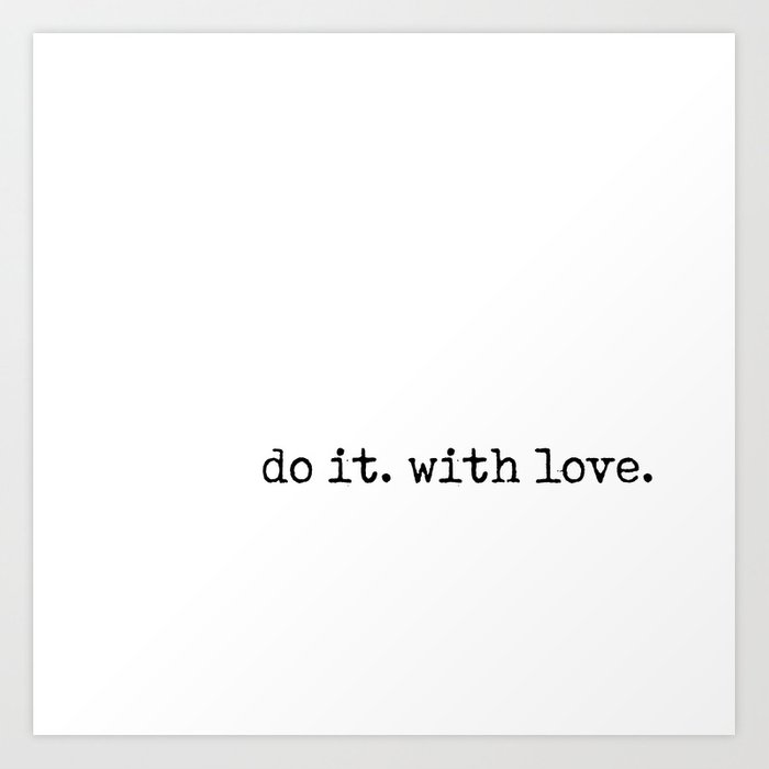 Do i. With Love. Typewriter Style Kunstdrucke