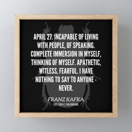 55   |  Franz Kafka Quotes | 190517 Framed Mini Art Print