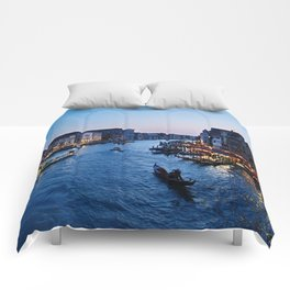 Venice at dusk - Il Gran Canale Comforters