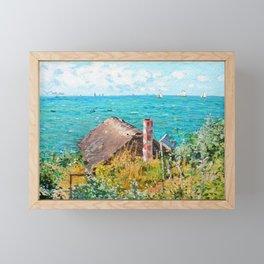 Claude Monet The Cabin At Saint-Adresse Framed Mini Art Print