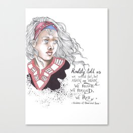 Children of blood and bone Canvas Print