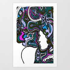 Purple Techno Art Print