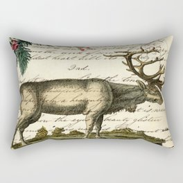 western country primitive christmas mountain animal wildlife winter pine tree elk Rectangular Pillow