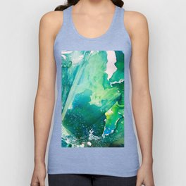 Environmental Importance, Deep Sea Water Bubbles Unisex Tank Top