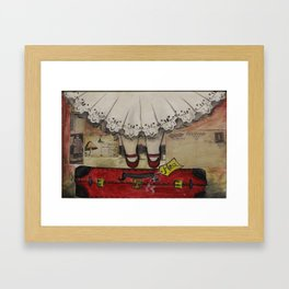 my red suitcase...  Framed Art Print