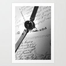 oscar de la renta black & white Art Print