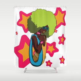 70s Star Shower Curtain