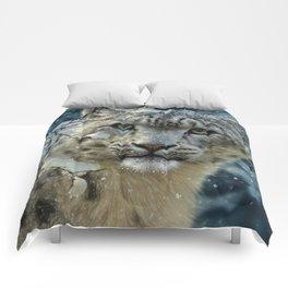 Snow Leopard Comforters
