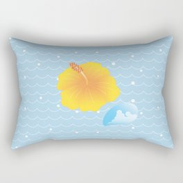 Hibiscus and Thunderhead reflected on the wave_Y Rectangular Pillow