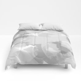 Gray and White Abstract Comforters