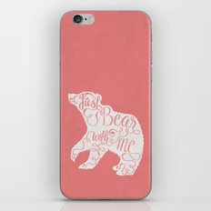 BEAR WITH ME - PINK iPhone & iPod Skin