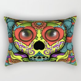 Cute Skull Dia de Los Muertos Rectangular Pillow