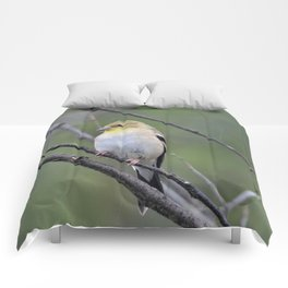 yellow finch Comforters