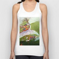 grand theft auto Tank Tops featuring Auto Abstract by Clara James