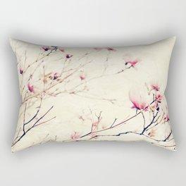 Spring Botanical - Tulip Tree, Magnolia × soulangeana II Rectangular Pillow