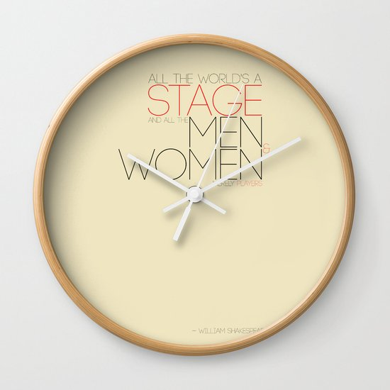 All The World's A Stage Wall Clock