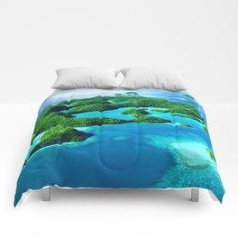 Glimpses of Heaven: Palau 70 Islands In Micronesia Comforters