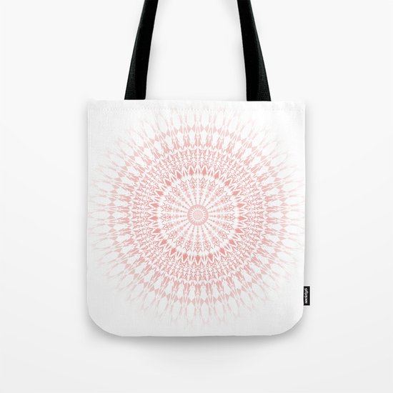 Rose Quartz Mandala Tote Bag