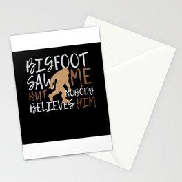 Bigfoot Saw Me Nobody Beleives Bigfoot Stationery Cards