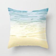 Kapalua Beach dream colours sparkling golden sand seafoam Maui Hawaii Throw Pillow