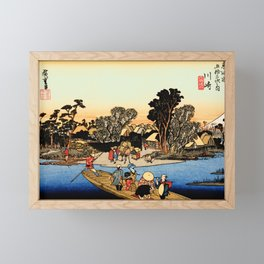 Kawasaki on the Tokaido Road Framed Mini Art Print
