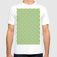 COLORFUL DOT Mens Fitted Tee White MEDIUM