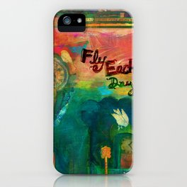 Fly Each Day iPhone Case