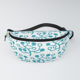 Mid Century Modern Berries Pattern turquoise Fanny Pack