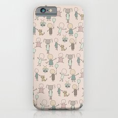 Children Playing-on Peach Slim Case iPhone 6s