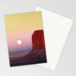 Hiroshi Yoshida - Monument Valley - Japanese Vintage Ukiyo-e Woodblock Painting - United State Stationery Cards