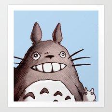 My Neighbor Totoro Illustration Art Print