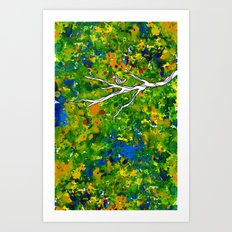 Bird out the Bush Art Print