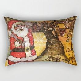 Santa's In Town Rectangular Pillow