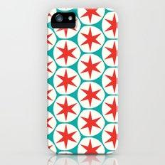 Retro Red Stars Pattern iPhone (5, 5s) Slim Case