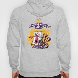 Retro Music Party Poster Hoody