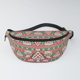 Cats and pizza ugly sweater Fanny Pack