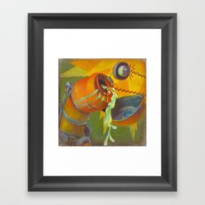 DickBot Attacked by BitchBot Framed Art Print