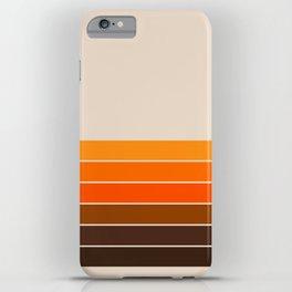 Golden Spring Stripes iPhone Case