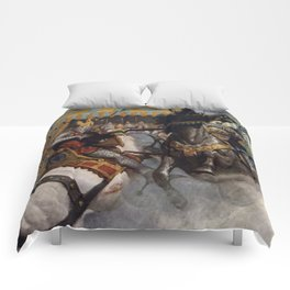 Knights jousting Comforters