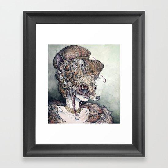 Vulpes Masquerade, now as a print! Framed Art Print