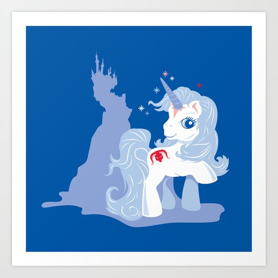 My Little Last Unicorn Art Print